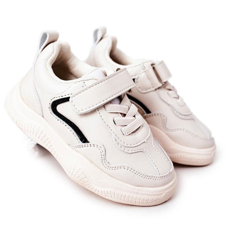 Apawwa Dziecięce Sportowe Buty Sneakersy Beżowe Runner beżowy