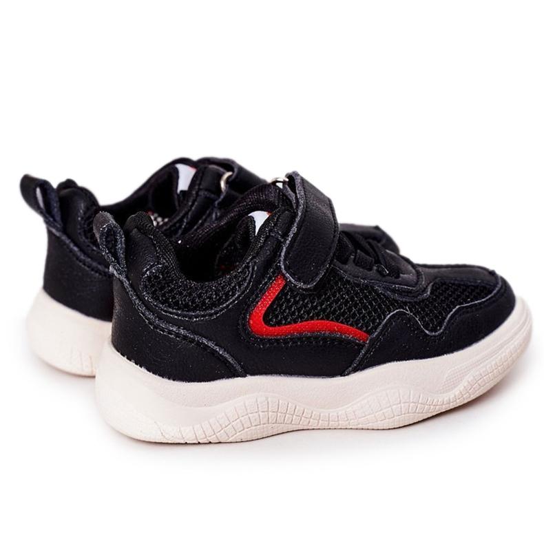 Apawwa Dziecięce Sportowe Buty Sneakersy Czarne Fun
