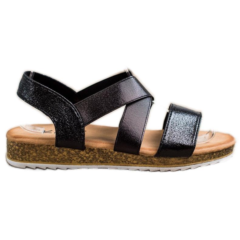 Kayla Wsuwane Sandały Z Gumką czarne