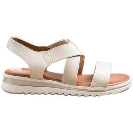 Best Shoes Wsuwane Sandały Z Brokatem złoty
