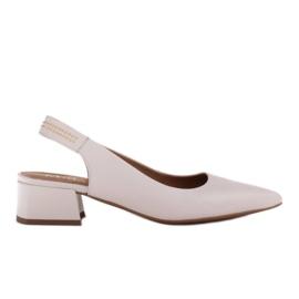 Marco Shoes Białe sandały z jetami