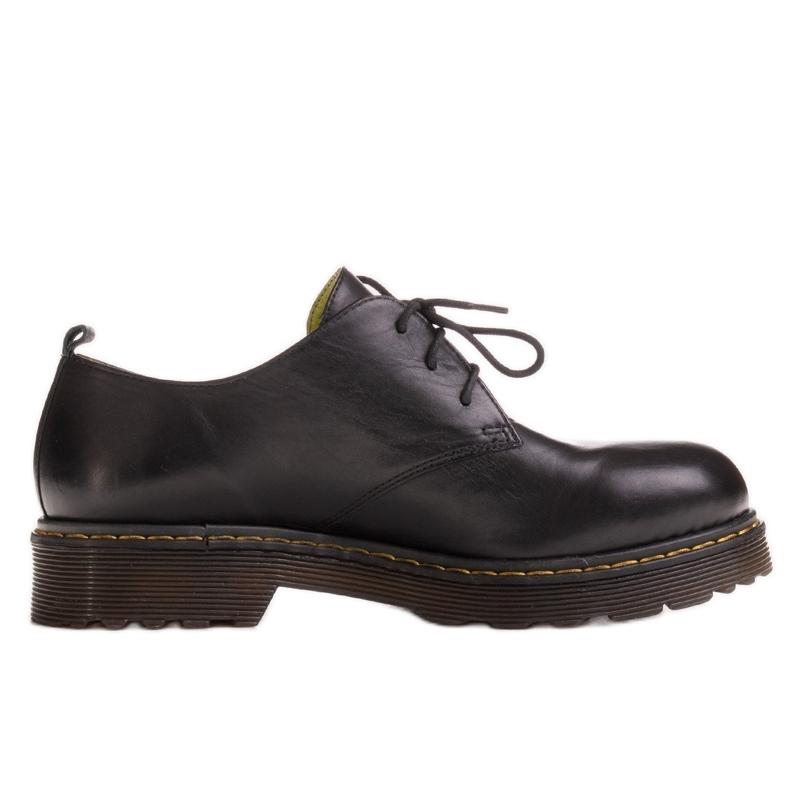 Marco Shoes Czarne półbuty damskie na grubym spodzie przeźroczystym