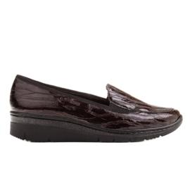 Radoskór Wygodne brązowe półbuty damskie na szerszą stopę