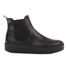 Marco Shoes Niskie trzewiki z miękkiej skóry naturalnej czarne