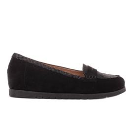 Marco Shoes Lekkie półbuty z bardzo miękkim spodem i ukrytym klinem czarne