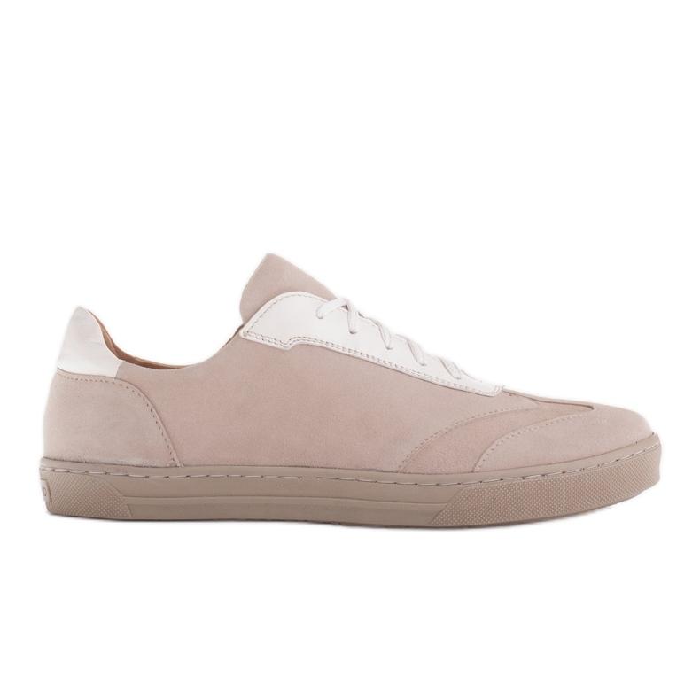 Marco Shoes Sportowe trampki z wysokiej jakości zamszu naturalnego beżowy