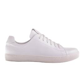 Marco Shoes Sportowe trampki z białej skóry licowej