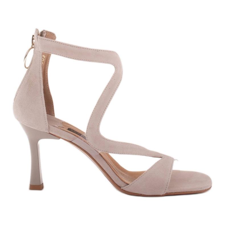 Marco Shoes Eleganckie sandały Ava beżowy