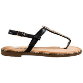 Seastar Sandały Japonki Z Ozdobą czarne