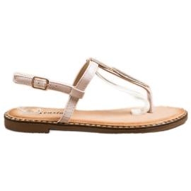 Seastar Sandały Japonki Z Ozdobą beżowy