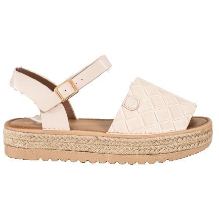 SHELOVET Sandały Espadryle Z Eko Skóry beżowy