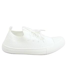 Trampki damskie skarpetkowe białe PC06P White