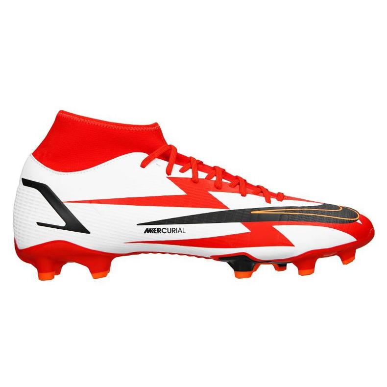 Buty piłkarskie Nike Superfly 8 Academy CR7 Mg M DB2854-600 szary/srebrny, biały, czerwony białe