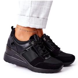 Sneakersy Na Koturnie Vinceza 10606 Czarne