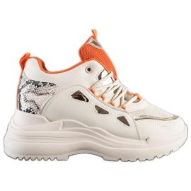 Marquiz Sneakersy Fashion beżowy