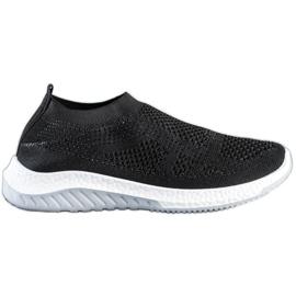 SHELOVET Wsuwane Sneakersy czarne