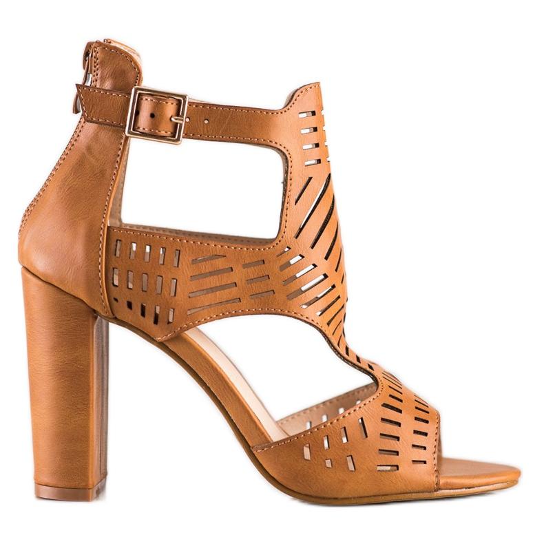 Renda Ażurowe Sandały Fashion brązowe