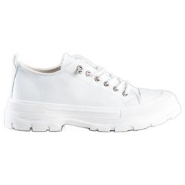 Sabatina Modne Sneakersy Na Platformie białe