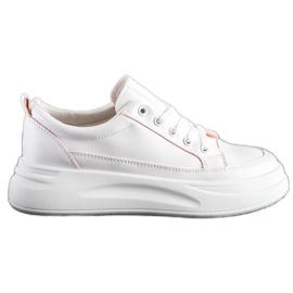 SHELOVET Trampki Fashion Na Platformie białe