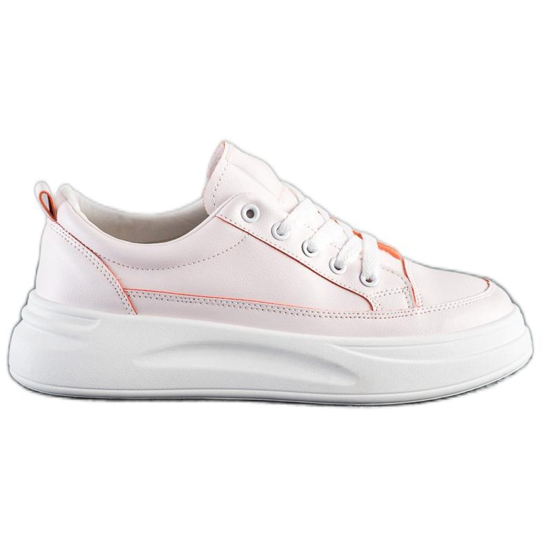 SHELOVET Trampki Fashion Na Platformie różowe