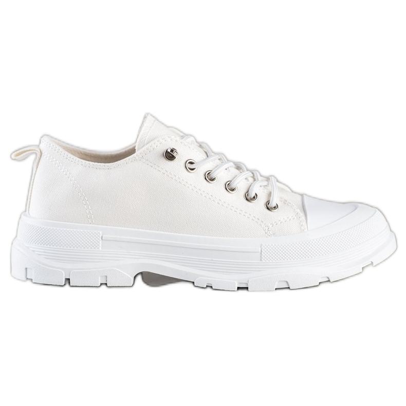 Sabatina Modne Sneakersy Na Platformie beżowy