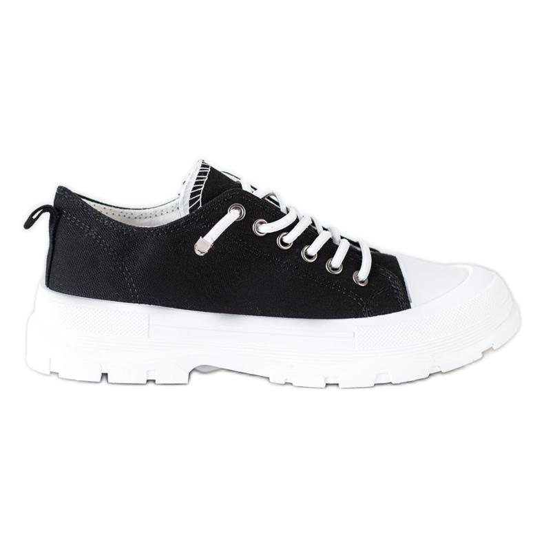 Sabatina Modne Sneakersy Na Platformie czarne