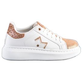 SHELOVET Stylowe Sneakersy Na Platformie białe