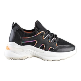 SHELOVET Czarne Sneakersy Z Siateczką
