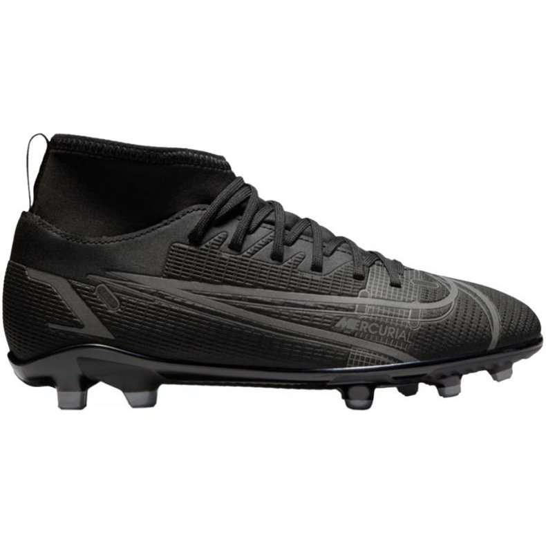 Buty piłkarskie Nike Mercurial Superfly 8 Club FG/MG Jr CV0790-004 czarne czarne