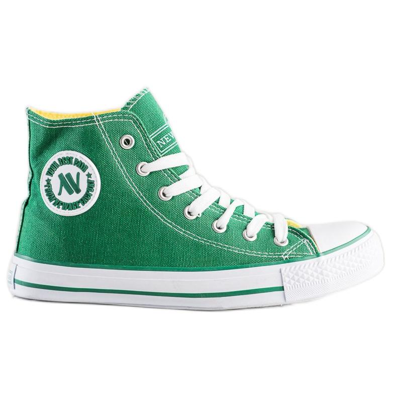 Wysokie Trampki New Age zielone