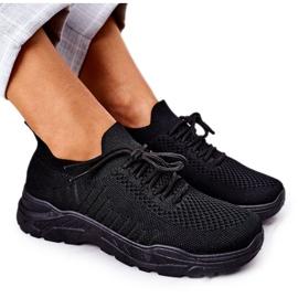 PS1 Damskie Sportowe Buty Sneakersy Czarne Ruler