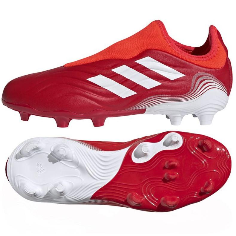 Buty piłkarskie adidas Copa Sense.3 Ll Fg Jr FY6156 czerwone czerwone