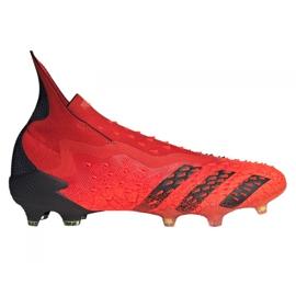 Buty piłkarskie adidas Predator Freak+ Fg M FY6238 wielokolorowe czerwone