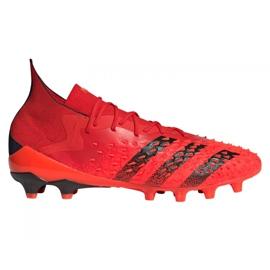 Buty piłkarskie adidas Predator Freak.1 Ag M FY6253 czerwone czerwone