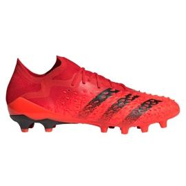 Buty piłkarskie adidas Predator Freak.1 Low Ag M GZ2809 czerwone czerwone