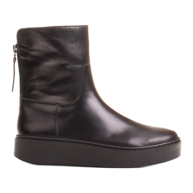 Marco Shoes Ocieplane botki sportowe na obszywanym spodzie czarne