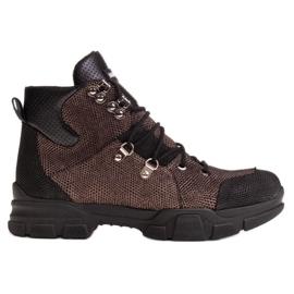 Marco Shoes Sportowe botki damskie z lekkim ociepleniem jesienno-zimowym czarne