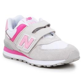 Buty New Balance Jr PV574SA2 różowe wielokolorowe