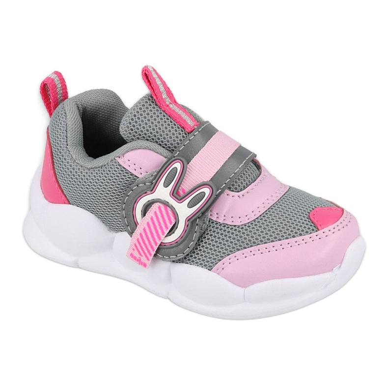 Befado obuwie dziecięce  516P091 różowe szare