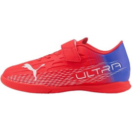 Buty piłkarskie Puma Ultra 4.3 It V Jr 106592 01 czerwone czerwone