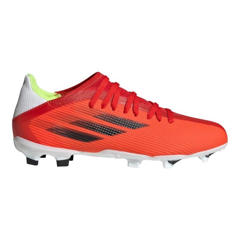 Buty piłkarskie adidas X Speedflow.3 Fg Jr FY3304 czerwone wielokolorowe