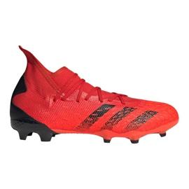 Buty piłkarskie adidas Predator Freak.3 Fg M FY6279 czerwone czerwone