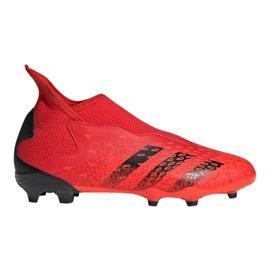 Buty piłkarskie adidas Predator Freak.3 Ll Fg Jr FY6296 czerwone wielokolorowe