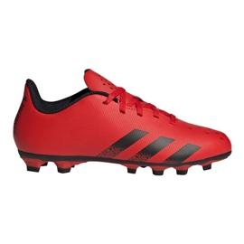 Buty piłkarskie adidas Predator Freak.4 FxG Jr FY6322 czerwone czerwone