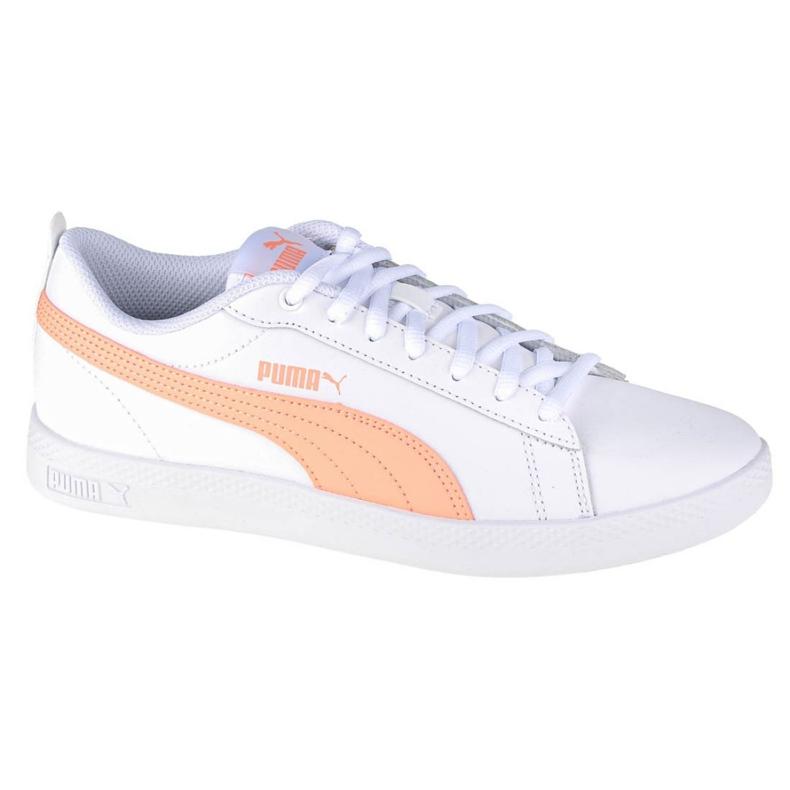 Buty Puma Smash Wmns V2 W 365208-26 białe pomarańczowe