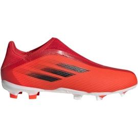 Buty piłkarskie adidas X Speedflow.3 Fg Ll Jr FY3257 wielokolorowe czerwone