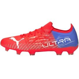 Buty piłkarskie Puma Ultra 3.3 Fg Ag M 106523 01 czerwone czerwone