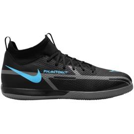 Buty piłkarskie Nike Phantom GT2 Academy Df Ic Jr DC0815 004 czarne czarne