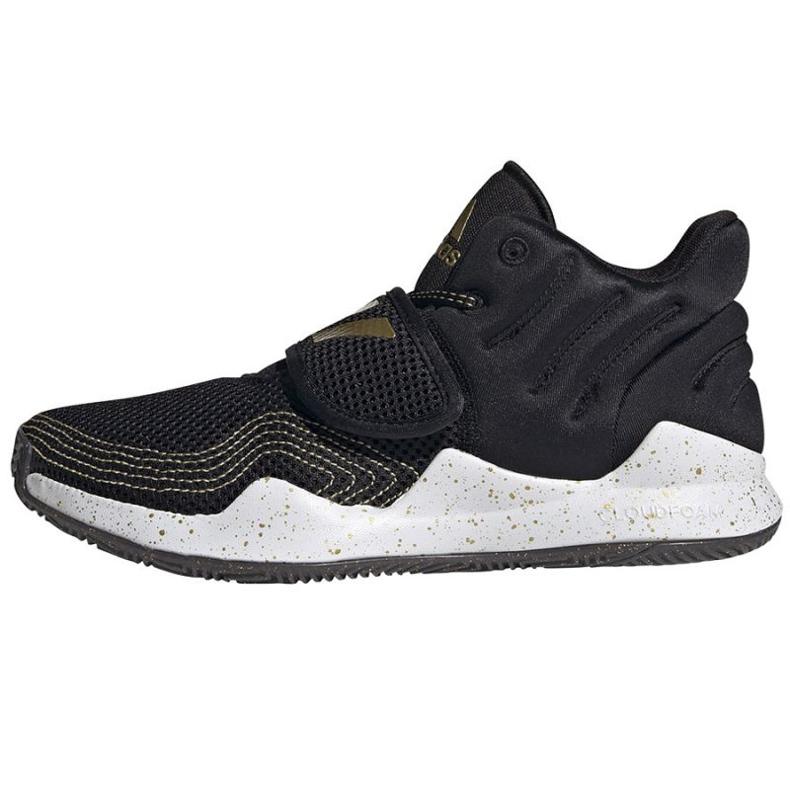 Buty adidas Deep Threat Primeblue Jr S29014 czarne niebieskie