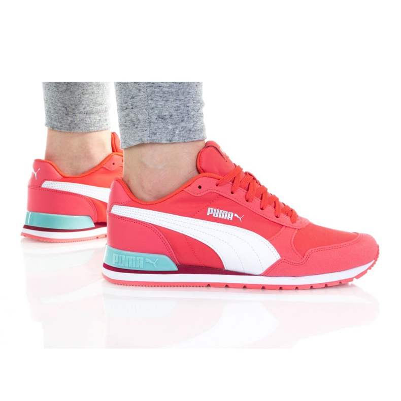 Buty Puma St Runner V2 Nl Jr 365293 36 białe różowe